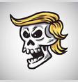 donald trump skull cartoon vector image