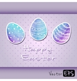 Easter eggs of watercolor texture vector image vector image