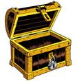 empty chest wooden vector image vector image