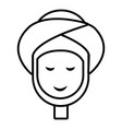 facial spa treatment icon outline style vector image