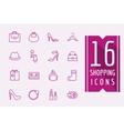 Fashion e-commerce icons set Shopping vector image vector image