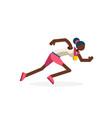 female runner black running athlete