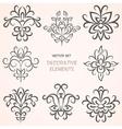 Floral decorative ethnic elements vector image vector image