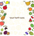 fruits cute banner background template with copy vector image vector image