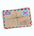 funky retro airmail envelopes vector image vector image