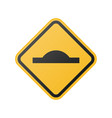 glossy speed bump ahead sign vector image