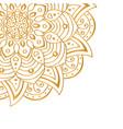 golden mandala isolated on white background vector image vector image