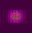 grand opening logo vector image vector image
