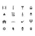 Hanukkah simply icons vector image vector image