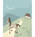 Horse on a meadow vector image vector image