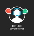 hot line with white assistant manager vector image