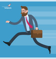 hurry urning businessman in rush vector image