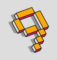 isometric 9 number vector image