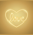 love neon sign yellow vector image vector image