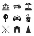 maturation icons set simple style vector image vector image