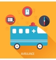 Medicine flat background concept vector image vector image