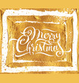 merry christmas premium gold card design vector image vector image