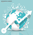 Modern world globe with application icon modern vector image vector image