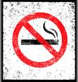 no smoking sign stop smoke symbol rough vector image vector image