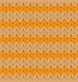 orange knitted scandinavian ornament vector image vector image