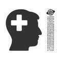 plus man head icon with professional bonus vector image vector image