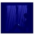 rain shower vector image vector image