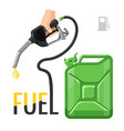 refueling concept emblem template for gasoline vector image