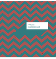 retro zigzag patterned card vector image vector image
