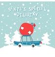Santas Special Delivery vector image vector image