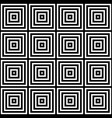seamless black and white square pattern des vector image vector image
