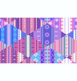 seamless tribal pattern with native patterns vector image