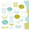 Set of clothes woman vector image