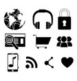 set of colorful social network icons vector image vector image