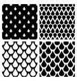 set of water drops seamless patterns vector image vector image
