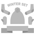 Set winter clothing hat and mittens Socks and vector image