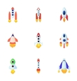 Space rocket icons set cartoon style vector image vector image