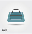 sport bag icon in flat style with shadow vector image vector image