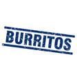 square grunge blue burritos stamp vector image vector image