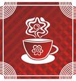 Tea cup vector image vector image