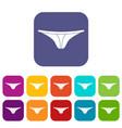 thongs icons set flat vector image vector image