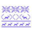 traditional christmas ornament with deers for warm vector image