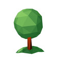 tree low poly style design element vector image vector image