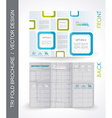 Tri-Fold Travel Mock up Brochure Design vector image
