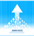 upward rising leading arrows for business growth vector image vector image