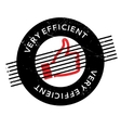 Very Efficient rubber stamp vector image vector image