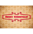 Vintage christmas label and vignettes vector image