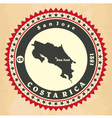 Vintage label-sticker cards of Costa Rica vector image