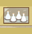 wedding dresses vector image vector image