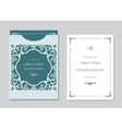 Wedding invitation card and envelope template with vector image vector image