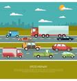 Speed Highway vector image